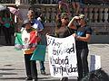 Protesta en favor de los profesores de Oaxaca, en la plaza principal de Aguascalientes (junio, 2016) 17.jpg