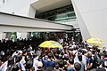 Protesters stay Jardine House outside 20190626.jpg