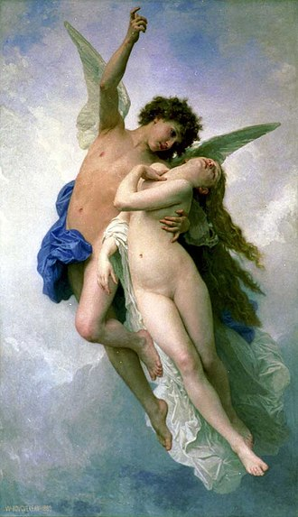 Voluptas - Psyche et L'Amour, by William-Adolphe Bouguereau