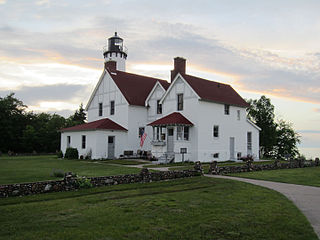 Point Iroquois Light lighthouse in Michigan, United States