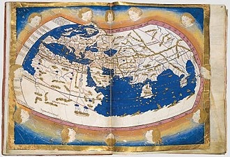 """Old World - Map of the """"Old World"""" (the Ptolemy world map in a 15th-century copy)"""