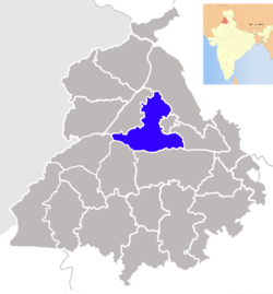 Location in Punjab, India