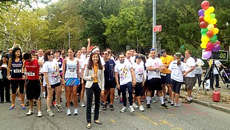 Aravella Simotas - Simotas kicks off QSAC's annual 5K race for Autism. September 2013