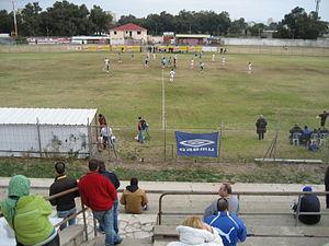 Kiryat Haim - A soccer match at Kiryat Haim Stadium