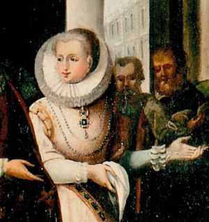 Anne Lascaris - Anna Lascaris Countess of Tenda, in a detail of the 18th century painting preserved at the Commune of Limone Piemonte.