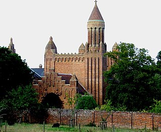 Quarr Abbey monastery on the Isle of Wight in southern England