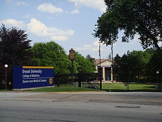 Drexel University College of Medicine - The Queen Lane Campus is located within the East Falls neighborhood of Philadelphia.