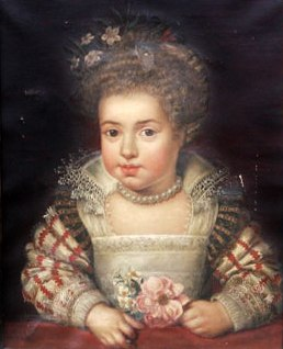 Queen Henrietta Maria as a child by Frans Pourbus the Younger 1611
