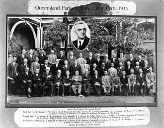 Roland Hislop - Queensland Parliamentary Labor Party, 1935 - Hislop is on the far right in the back row.