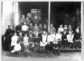 Queensland State Archives 3039 Pupils and teachers at Gin Gin primary school c 1900.png