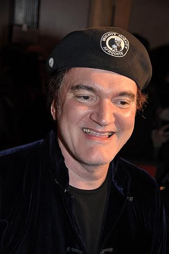 Django Unchained - Tarantino in Paris at the film's French premiere, January 2013
