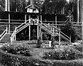 Qui Si Sana Sanatorium and Biological Institution, pavilion front porch and rose garden, 1913 (WASTATE 1576).jpeg