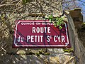 Quincié-en-Beaujolais - Route du Petit Saint-Cyr - Plaque (mars 2019).jpg