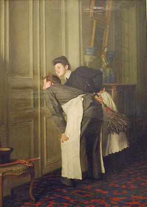 Rémy Cogghe - Madame Has a Guest (1908)
