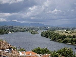 O río Miño dende Tui, Pontevedra, Galiza