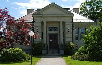 Center Harbor, New Hampshire - Nichols Memorial Library, 2007