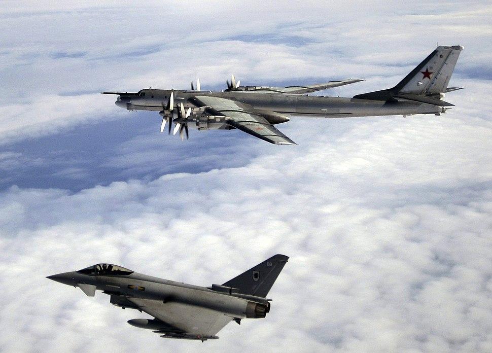 RAF Tyhoon Russian Intercept