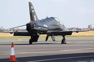 Blackpool Airport - RAF Hawk jet at Blackpool Airport (2008).