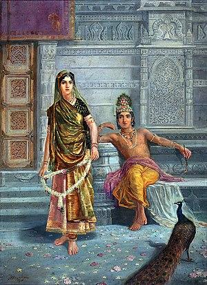 Radha - Radha with Krishna, a 1915 painting.