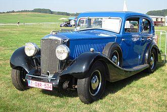 """Railton (car) - 1935 Railton Straight Eight """"University"""" saloon"""