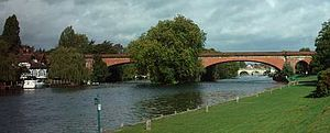 Great Western main line - Maidenhead Railway Bridge carrying the line over the River Thames.