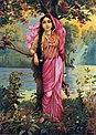Raja Ravi Varma, Vasantika (oleographic print).jpg