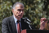Ralph Nader speaking in front of the White Hou...
