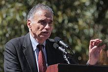 Nader tiene un comizio contro la guerra d'Iraq nella manifestazione del 15 settembre 2007 a Washington.