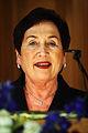 Rannveig Gudmundsdottir, haller tal efter det att hon valts till Nordiska radets president 2005.jpg