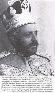 Kassa Haile Darge Shewan nobleman and Ethiopia monarch (1881-1956)