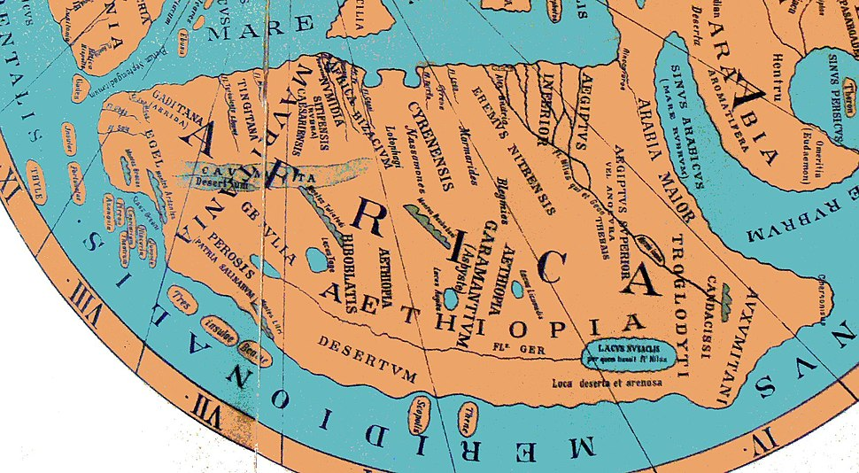 Ravenna Cosmography 1889 Africa crop
