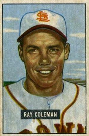 Ray Coleman (baseball) - Image: Ray Coleman 1951
