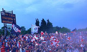FK Radnički 1923 - The Đavoli at the Čika Dača Stadium in 2011.