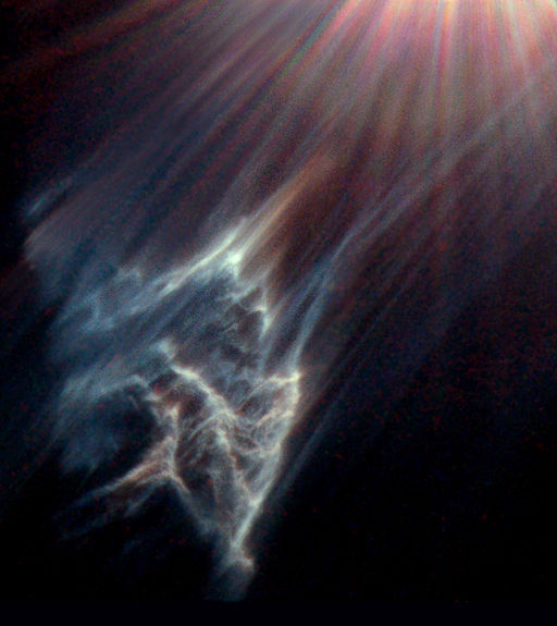Reflection nebula IC 349 near Merope