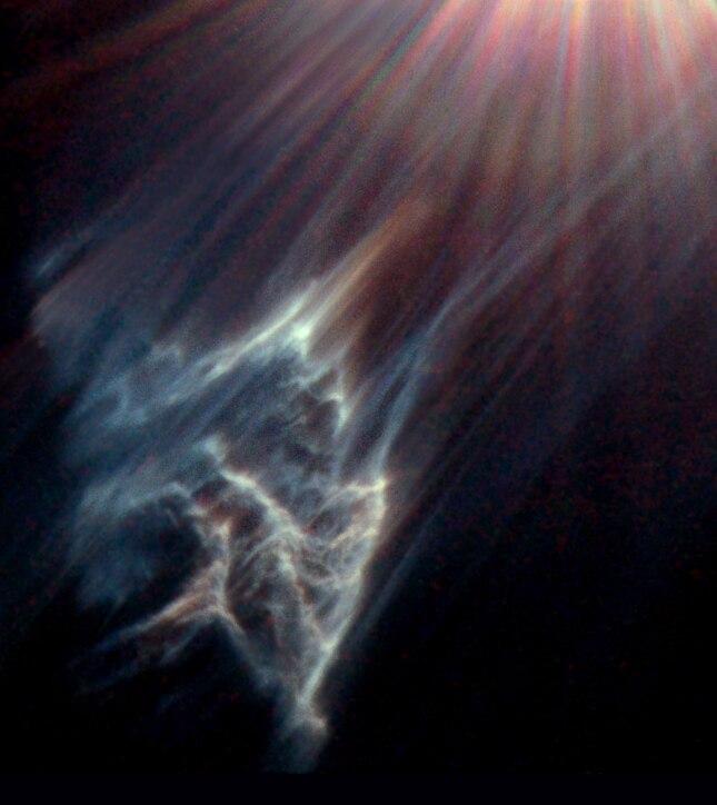 Reflection nebula IC 349 near Merope