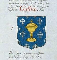 Reino de Galicia no Armorial Jean Robin 1639