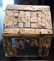 Reliquary box, perhaps from Italy, Grave 120, Hessigheim, Kreis Ludwigsburg, late 7th century AD, wood and bone - Landesmuseum Württemberg - Stuttgart, Germany - DSC02987.jpg