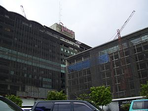 Hotel Indonesia - Hotel Indonesia under renovation in 2007