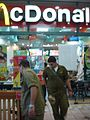 Reservists at McDonalds Kiryat Shmona (218530529).jpg