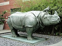 Rhinoceros Sculpture, School of the Museum of Fine Arts, Boston - DSC09370.jpg