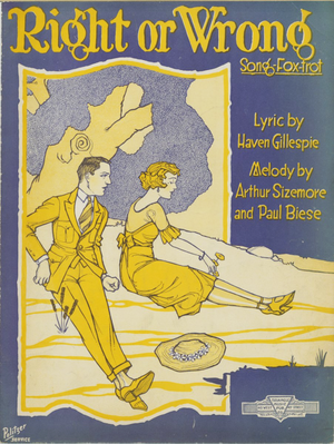 Right or Wrong (song) - Image: Right Or Wrong 1921