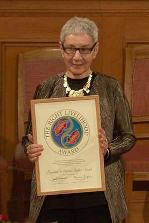 Ruchama Marton - Ruchaama Marton with her Right Livelihood Award