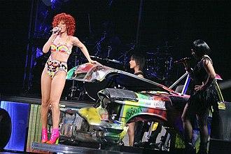 "Loud Tour - Rihanna performing ""Shut Up And Drive""."