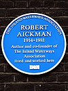 Robert Aickman 1914-1981 author and co-founder of The Inland Waterways Association lived and worked here.jpg