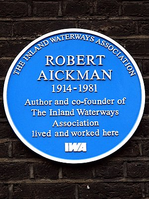Robert Aickman - Plaque at 11 Gower Street, London