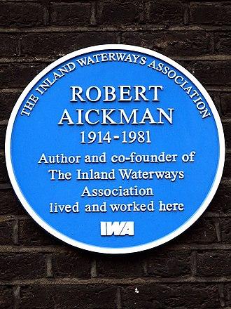 Robert Aickman - Plaque at 11 Gower Street, London