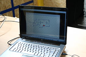 Simultaneous localization and mapping - A map generated by a SLAM Robot.