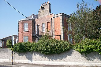 Clonskeagh - Roebuck House, Clonskeagh (note infill development behind old house)