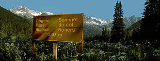 Rogers Pass (British Columbia) - At the summit of Rogers Pass