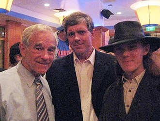 Don Black (white supremacist) - Don Black (middle) standing with his son Derek (right) and American politician Ron Paul